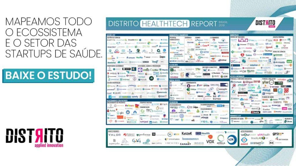 Mapeamos todo o ecossistema  e o setor das startups de saúde no Brasil. Baixe o estudo.